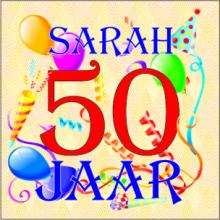 Sarah 50 Jaar Slingers